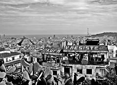 """Okupa y resiste"", Barcelona 2012. (giuliascorza777) Tags: barcelona travel blackandwhite travelling amazing spain view espana gaudi barcellona spagna tbt parcogaud"