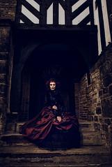 She waits........He flee's (Clinton lofthouse Photography) Tags: red history key yorkshire victorian tudor story mansion headwear darkbeauty brasskey darkfairytale costumephotography