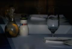 holiday table (dotintime) Tags: holiday glass season table snowman wine olive oil etc setting meganlane dotintime