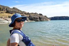 Chunlin at Banks Lake (Sotosoroto) Tags: washington hiking bankslake grandcoulee dayhike columbiabasin