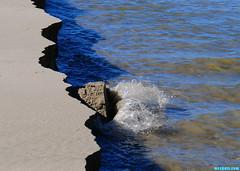 CrumblingCliffsII (mcshots) Tags: california travel winter usa beach water creek coast sand shadows sandy stock lagoon malibu cliffs erosion socal flowing walls mcshots berm crumbling losangelescounty surfriderstatebeach