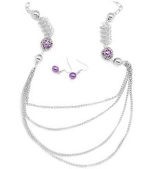 Glimpse of Malibu Purple Necklace P2420-2