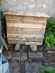 Bac à compost / Pallet Compost Bin (irecyclart) Tags: garden pallet recycling compostbin