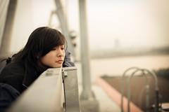 Sun-sad (lkn6793) Tags: bridge sunset portrait woman cute girl beautiful face cat canon vietnamese alone sad vietnam lonely 18 50 6d