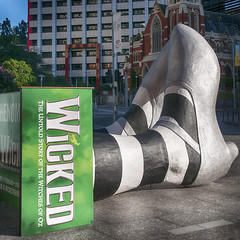 ... one short day in the emerald city ( Leanne) Tags: shoes witch australia brisbane musical wicked queensland kinggeorgesquare wickedmusical wickedinoz