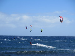 Kiteboarding (Risager) Tags: sea sunshine clouds windy sunny kiteboarding grancan elburrero