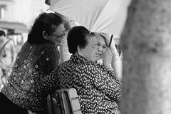 """Happy Ladies"" in Cheung Chau, Hong Kong (Ben Molloy Photography) Tags: life street ladies people sunshine smiling laughing umbrella outside happy photography nikon ben hong kong human persons molloy joking benmolloy benmolloyphotography benmolloyhongkong"