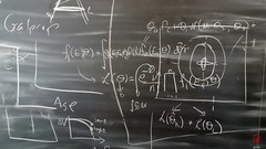 Blackboard (Mark Kaletka) Tags: chalk drawings math physics chalkboard blackboard equations ferminationalacceleratorlaboratory calculusfermilab