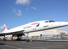 G-BOAB British Airways Concorde (NBee Aviation) Tags: stand airport aircraft ground aeroplane apron britishairways londonheathrow