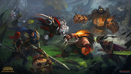 Epic Battle League of Legends fanart!