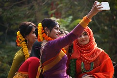 Selfies with the festive mood. (Ashraf Siddiqui 76) Tags: girls festival women bangladesh selfie falgun simplysuperb coloursplosion