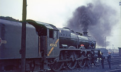 45565 Glasgow shed (66A).   24 September, 1966 (Brit 70013 fan) Tags: br glasgow jubilee victoria railtour steamengine britishrailways polmadie 45565 66a southyorkshireman