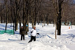 Skiing @ Mont-Royal (Juliotrlima) Tags: snow canada sports canon fun skiing quebec montreal neve montroyal markiii 2470