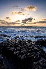 Scarlett Point (Steve Meadows Photography) Tags: scarlett sunrise canon scarlet point coast rocks waves mann rough isleofman seas castletown 700d stevemeadowsphotography