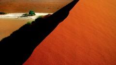 Tree behind the dune (flowerikka) Tags: sunrise desert horizon dune namibia risingsun namibdesert