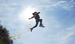 """'The Sky Runner"""" (Kavan The Kid) Tags: portrait sky man art clouds photoshop self wow photography flying amazing alone fine super runner"""