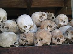 Skulls at Choeung Ek Killing Field Cambodia