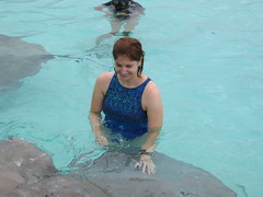 Petting a Sting Ray