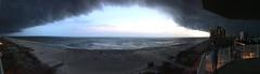 Perdido Key, Florida. Storms moving in. (lukebradshaw1) Tags: ocean balcony clouds thunderstorm gulfofmexico perdidokey beach panoramic