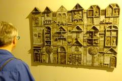 Innocent City (pecooper98362) Tags: syracuse newyork eversonmuseumofart internationalcontemporaryceramics ceramicart kennethjohndierck basrelief wallhanging stoneware innocentcity