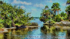 Volusia County FL waterscape (NancySmith133) Tags: volusiacounty centralfloridausa painterly textura
