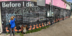 Before I Die (super*dave) Tags: panorama iphone icecream jerrys jerryssnocones chalk memphis tennessee