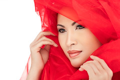 Sai - A Beauty Portrait (kennethlcrow) Tags: red beauty bahrain thai flashpoint ad360 streaklight godox rl600 sonya7rii sony85mmgm