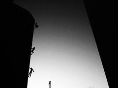 *** (Boris Rozenberg) Tags: blackwhite blackandwhite monochrome building architecture figures people olympus olympuspen pen2 ep2 17mm primelens prime blackandwhitephotography silhouette street pov view harmonie bw life daily