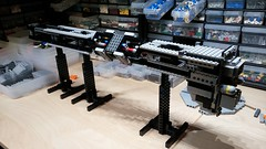 Omega Destroyer WIP 3: Feeling a bit rickety (Rphilo004) Tags: lego shiptember 2016 omega class destroyer babylon 5