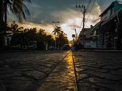 Gold (spencer_r_allen) Tags: street travel vacation mexico island paradise olympus cobblestone cancun tough magichour waterproof islamujeres paver tg4