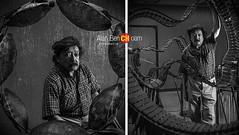 El es Joaquin (alan benchoam) Tags: artist muscian marimba bwportrait turttle strange creative musicinstrument