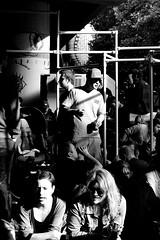 Cool guy (Dan Eckberg) Tags: party fun crowd bw