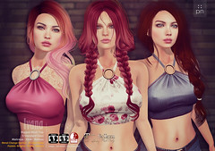 Ivana (http://www.purplemoonsl.com) Tags: red fashion mesh top tag collection pm halter purplemoon