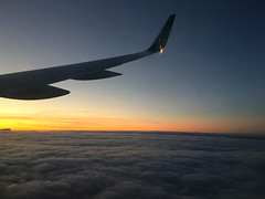 Here Comes The Sun (IamJomo) Tags: camera ireland sunset england sunrise airplane aerlingus iphone jomo takenwithaniphone iphoneography iphone6 smallworldphotos jomophoto