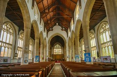 Cromer Church (Holfo) Tags: uk cromer eastanglia england norfolk nikon d5300 hdr church windows holy pews arches architecture aisle building indoor