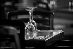 Lunch time (norm.edwards) Tags: blackandwhite food lunch glasses moody wine lovely peterborough cutlery