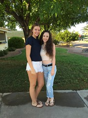 First day of high school 2016 for my girls. #girls #beautifulgirls #love #mygirls #pretty #cute #school #highschool #family #candid #groupshot #people #outdoors #mylife #smile #arizona #fun #daughter #life #blueeyes #prettygirl (HIRH_MOM) Tags: girls beautifulgirls love mygirls pretty cute school highschool family candid groupshot people outdoors mylife smile arizona fun daughter life blueeyes prettygirl