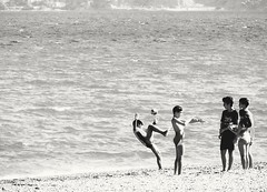 Childhood. (Christos Andreou) Tags: seagames childrenplaying corinthia corinth mediterranean coastline sealandscape vivid people theworldwelive greeksummer landscapes opticalzoomphotos samsunggalaxykzoomsamples photoshop travel beachwalking relaxing beautifulworld spectacularphotos holidaysingreece greece photographer blackwhite ngc