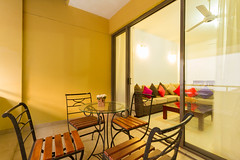 Balcony sitting area (T and V Boutique Apartments) Tags: vacation court hospital apartment budget central rental sri lanka national ceylon accommodation spa colombo groups fully hedges serviced hayleys odel asiri