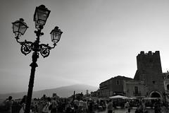 Piazza IX Aprile (@davidflem) Tags: sicily taormina fujifilm xpro1 monochrome