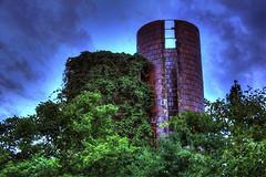 """A Vine in Time"" (Melissa June Daniels) Tags: sky green abandoned nature landscape climb farm bricks ivy vine silo urbanexploration ladder hdr urbex abandonedplaces rurex hdrurbex melissajdaniels melissajdanielsphotography melissajunedaniels thenymphandthebee"
