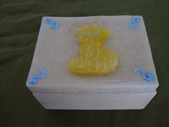 CAJA RECTANGULAR MARFIL  HECHA DE CERA (ilmiomondoincera) Tags: casa artesanal caja te regalo cera rectangular t t decoracion marfil