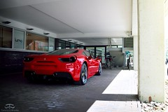 Ferrari 488 GTB (Paul.Z.Foto) Tags: auto red sports car sport photography photo italian automobile italia european foto shot image time euro picture twin pic automotive super ferrari exotic turbo photograph bil works vehicle spotted hyper rosso edm supercar less v8 vilnius timeless sporty sportscar exotics gtb rwd 458 488 hypercar timelessworks