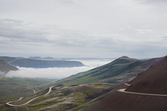 On the (gravel) road (Dalla*) Tags: gravel road long winding mountains westfjords iceland view narrow travel travelling landscape nature outside dallais
