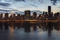 NYC Reflections (NYRBlue94) Tags: reflection hdr nyc manhattan evening twilight city