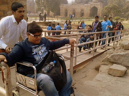 Accessible Tour of Qutub Minar: Ramp facility for wheelchair users. We make sure that the venue is accessible for people with all disabilities.
