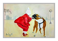 Friendship  Watercolour on canson paper  #watercolour #painting #Child #kid #Dog #Friendship #Friends (anilkumararabb) Tags: friends friendship child painting watercolour dog kid