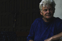 grandma (julitadotk) Tags: woman model age grandma grandmother portrait human person shadow moody