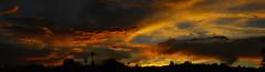 Sunset 7 22 2016 #13 Panorama e (Az Skies Photography) Tags: sun set sunset dusk twilight nightfall cloud clouds sky skyline skyscape rio rico arizona az riorico rioricoaz arizonasky arizonaskyline arizonaskyscape arizonasunset red orange yellow gold golden salmon black canon eos rebel t2i canoneosrebelt2i eosrebelt2i july 22 2016 july222016 72216 7222016 panorama