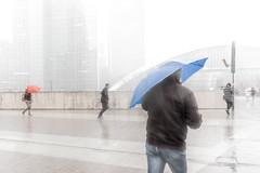 Dluge  La Dfense (bruno2nis) Tags: character courbevoie92400 francefra hautsdeseine92 individu individual meteorology mtorologie parisladfense92 passant passerby pedestrian piton pluie rain ledefrance